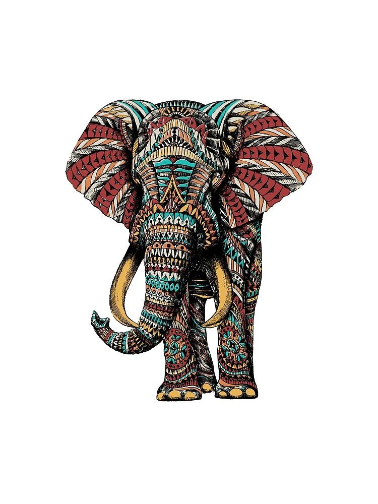 Elefante adornado (Versión en color) de BioWorkZ