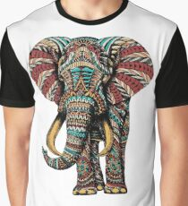 Ornate Elephant (Color Version) Graphic T-Shirt