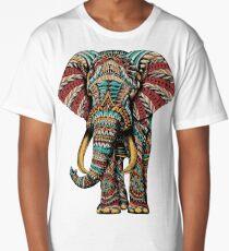 Ornate Elephant (Color Version) Long T-Shirt