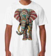 Ornate Elephant (Color Version) Long T-Shirt