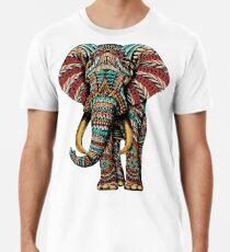 Camiseta premium para hombre Elefante adornado (Versión en color)