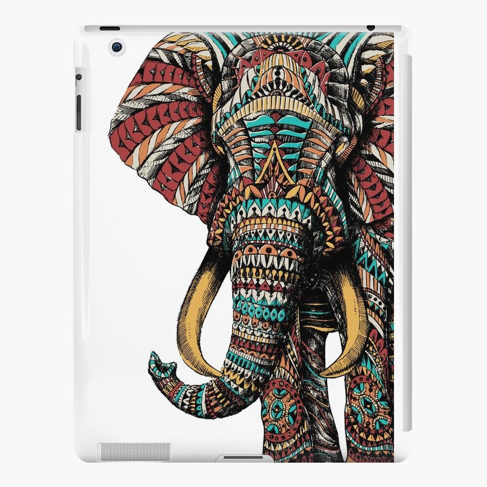 Elefante adornado (Versión en color) Vinilos y fundas para iPad