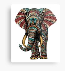 Ornate Elephant (Color Version) Metal Print
