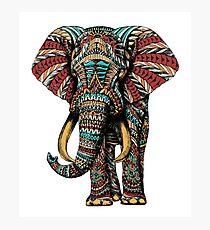 Verzierter Elefant (Farbversion) Fotodruck
