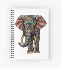 Ornate Elephant (Color Version) Spiral Notebook