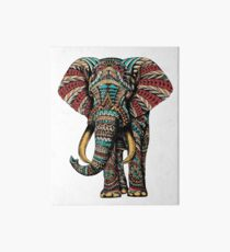 Ornate Elephant (Color Version) Art Board
