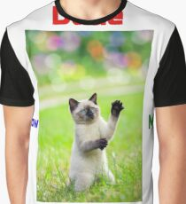 Dude Throw Me the Ball Cat Graphic T-Shirt