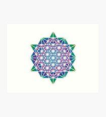Base 64 Creation Star Tetrahedron Merkaba Art Print