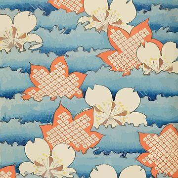 Japanese Vintage Bijutsukai Pattern by Go-Postal