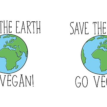 Save The Earth, Go Vegan Mug by gerby