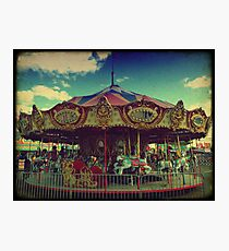 The Carnival Carousel ttv Photographic Print