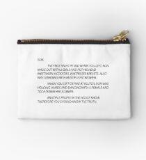 Anonymous Letter Sammi Studio Pouch