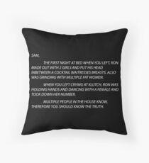 letter to sammi Floor Pillow