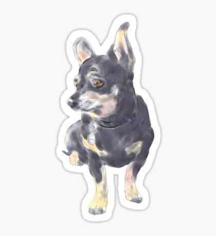 Little Dog Waiting Sticker