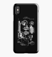 Mason Revolving Firearm Patent White iPhone Case/Skin