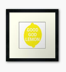 Good God Lemon - 30 Rock Quote Framed Print