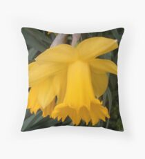 Daffodil heads for Erika15 on her Birthday Throw Pillow