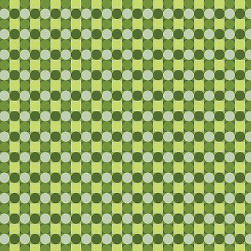 Green circles pattern by FakeMirror
