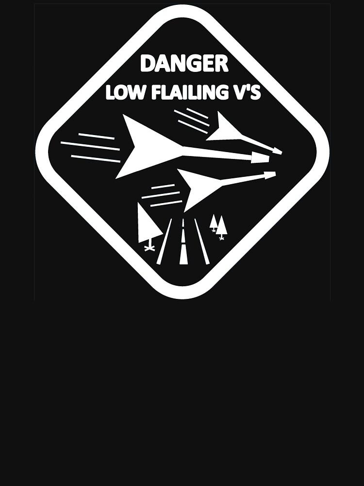Low Flailing V's (For Dark Tees) by JettKredo