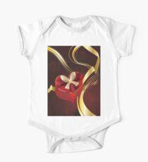 Brown Background with Heart Shaped Box Kids Clothes