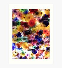 Bursts Of Coloured Glass Art Print