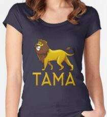 Tama Lion Drawstring Bags Women's Fitted Scoop T-Shirt
