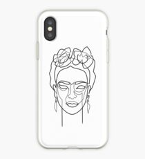 Woman Hair Dos Drawing in One Line iPhone Case