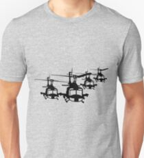 Huey Helicopter Team in Black v1 T-Shirt