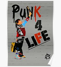 """Punky """"Punk 4 Life"""" Brewster Poster"""