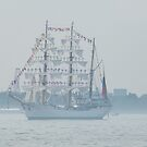 Tall Ship, Hudson River, New York City by lenspiro