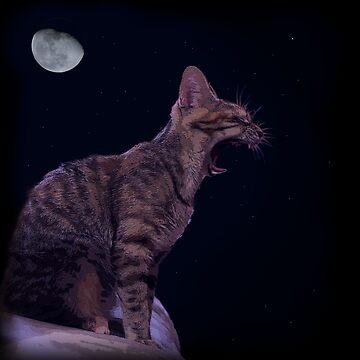 Lexa ROARING (yawning actually) by guichearmo