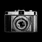 iLoca Vintage Camera with White Outline by RetroArtFactory