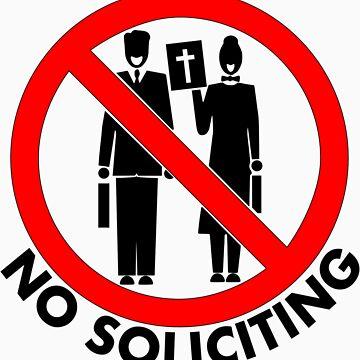 Snarky No Soliciting Color Design Sign by jnmvinylstudio