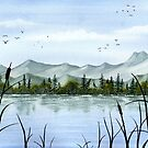 Mountain lake by MadameCat-Art