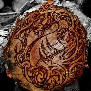 Manaia Wood Burning by Winus