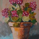 Lovely Geraniums by Terri Holland