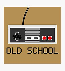 Old school - Nintendo (NES) Controller Photographic Print