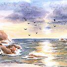 Rocky coast by MadameCat-Art