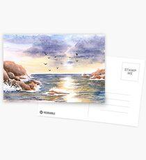Rocky coast Postcards