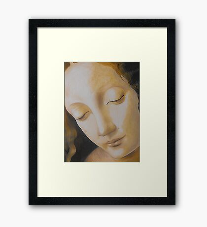 Study #1 - from Madonna on the rocks Framed Print