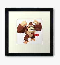 Donkey Kong Polygonal Framed Print
