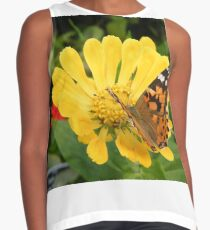 Butterfly and Flower Close-Up, Bronx, New York City Contrast Tank