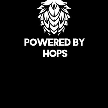 Powered By Hops | drinking games shirt | beer lover gift | craft beer shirts | beer gifts men | beer gifts for dad | drinking shirt | beer clothing | funny beer gift | beer pong by qtstore12