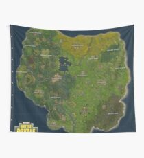 Fortnite Battle Royale Map Wall Tapestry