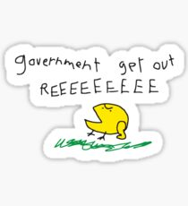 Government get out REEEEEEE SNEKRIGHT Libertarian No Step on Snek Don't Tread on Me style with Kekistan Frog Memes white HD HIGH QUALITY ONLINE STORE Sticker