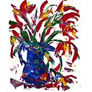 Flowers in Vase - Acrylic by Paul Gilbert