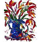 Flowers in Vase - Acrylic by Paul Gilbert