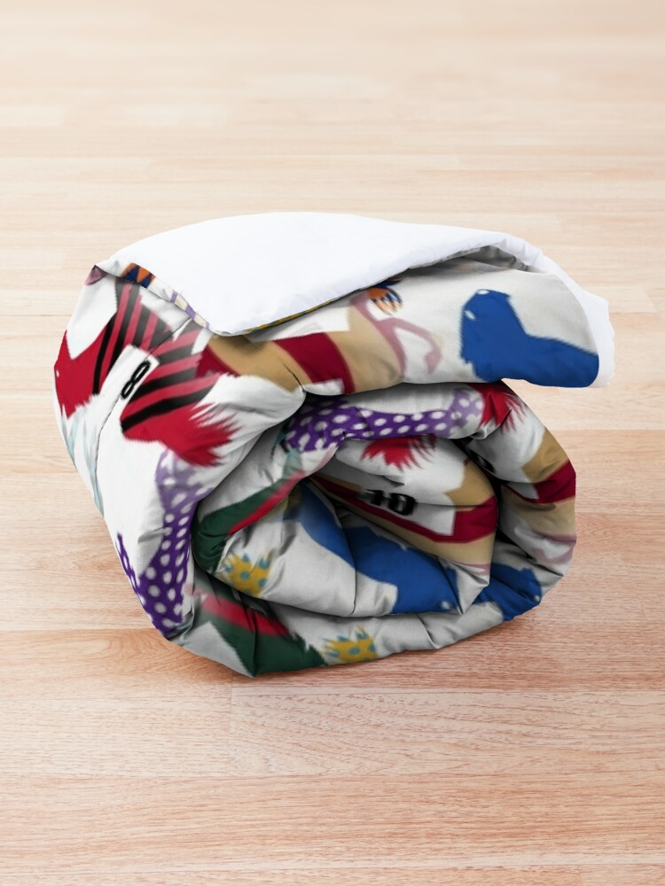 Alternate view of Off to the Horse Races Jockey Silks Pattern Comforter
