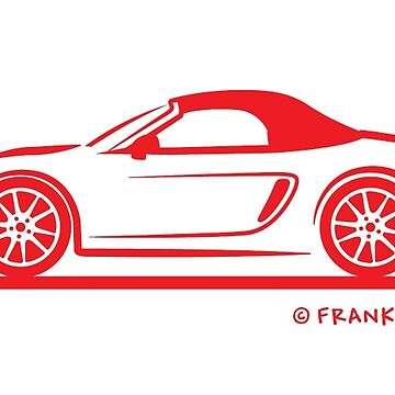 Porsche 981 Boxster Top Up Red by azoid