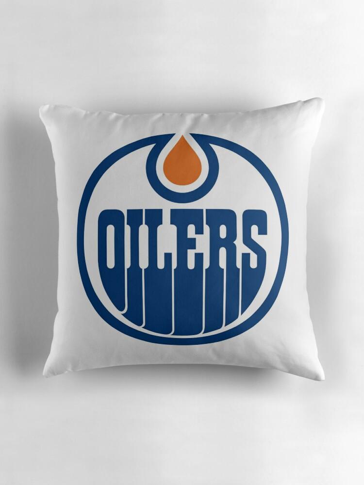 "Edmonton Oilers"" Throw Pillows by saulhudson32"